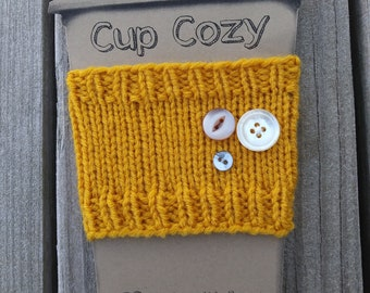 Hand Knit Hand Made Cup Cozy Coffee Sleeve Tea Sleeve Travel On The Go Gift for Mom Nurse Coworkers Doctor Teacher Sister Inlaws