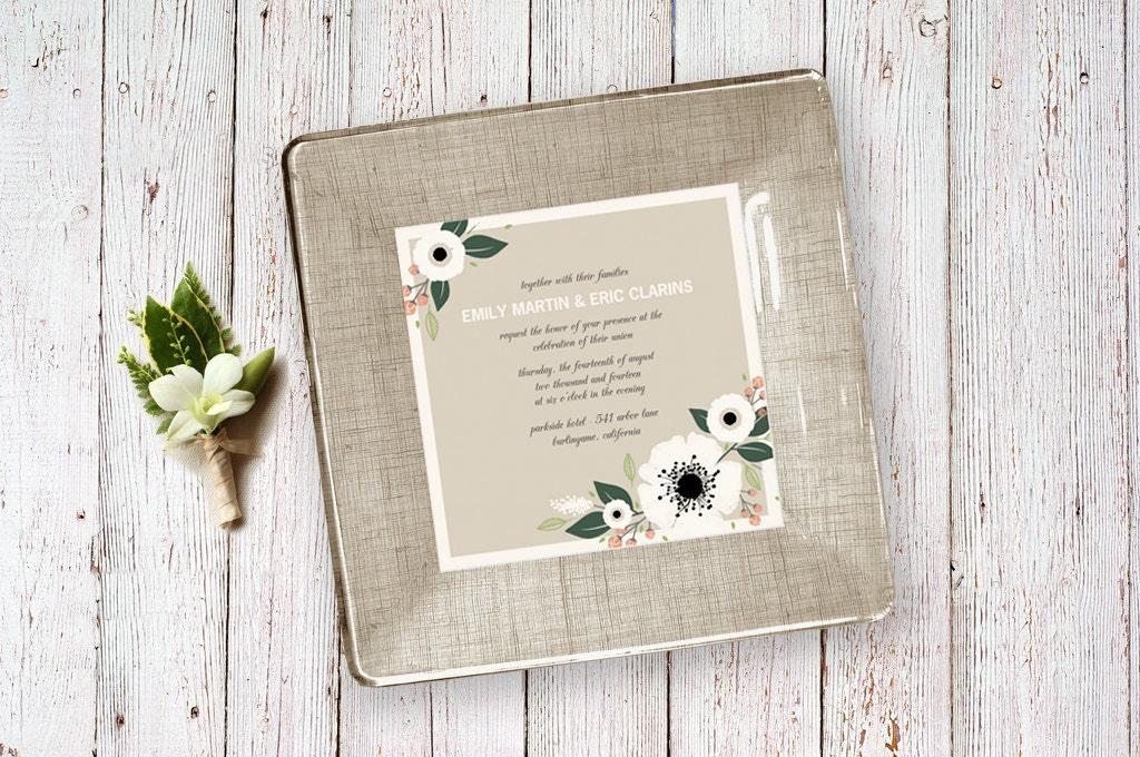 wedding invitation keepsake personalized wedding gifts