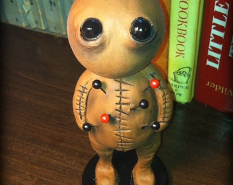 Halloween horror clay voodoo doll pink or brown Made to Order