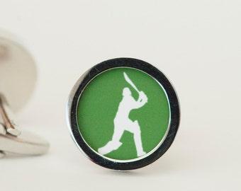 Cricketer Cufflinks - Gift cufflinks, Men's Cufflinks,  Husband, Wedding gift, Novelty cufflinks for him, English Cricket, Cricket lovers