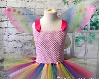 rainbow tutu dress, rainbow tutu, rainbow butterfly dress, rainbow butterfly costume, rainbow butterfly tutu, butterfly costume, fairy tutu