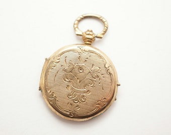 Antique Small Gold Filled Photo Locket