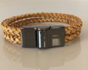 Brown Leather Bracelet for Women Wrap Bracelet Woven Bracelet Braided 7 Inches Bracelet Bracelet Gift