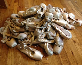 Worn Out (Dead) Ballet Pointe Shoes for Decorating and Crafts