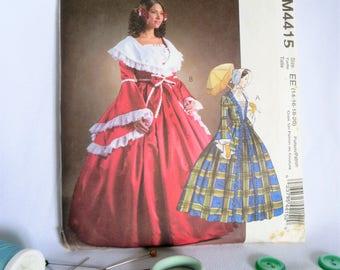 Costume Pattern, Ball Gown Pattern, Civil War Pattern, Belle, Christmas, Southern, Dress, Pattern, Mccalls, 4415, Dickens, Caroler