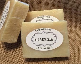 Gardenia Soap, Glycerin Soap, Homemade, Vegan Soap