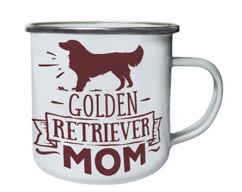 Golden Retriever Mom ,Tin, Enamel 10oz Mug w105e