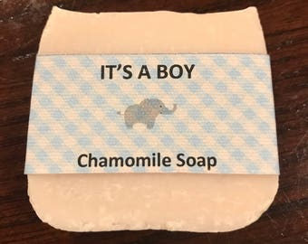 Homemade soap favors, 18 handmade soaps, baby shower soap, party soaps, 18 labeled bars