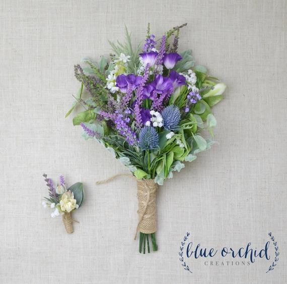 wildflower bouquet lavender bouquet wedding bouquet bridal