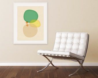 Mid Century Modern Art, Large Wall Art, Large Art Print, Abstract Art, Modern Art Print