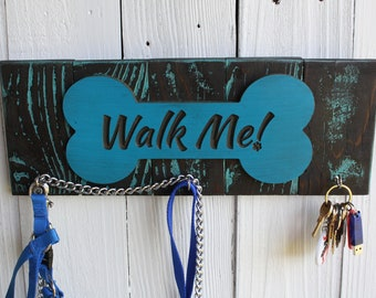 Walk Me Dog Leash Holder; Organizer; Keyring Holder
