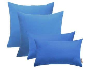 Set of 4 In/Outdoor Square& Rectangle Pillows Sunbrella Canvas Capri Choose Size