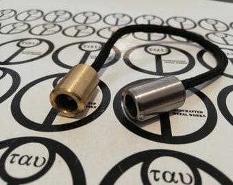 "Begleri ""9"" - Bronze and stainless steel beads"