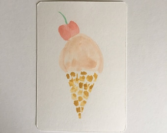 "Card; ""Ice-cream"""