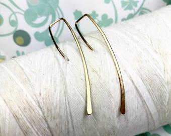 14k Gold Fill - Quotations / 14k gold earrings / gold earrings / modern gold earrings / minimal earrings / gold wire earrings