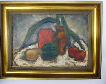 SALE! Org 895.00 Impressionist Still Life O/C   1953-Sherman