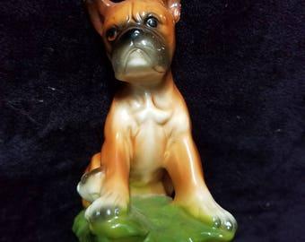Norleans Japan Ceramic Boxer Dog Figurine