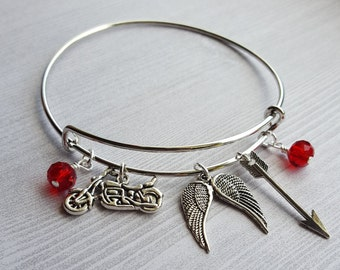 The Walking Dead Daryl Dixon Charm Bracelet