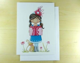 Greetings card, girl, anniversary, shower
