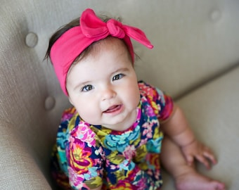 Navy Floral Tunic Dress - Baby Dress - Dress - Toddler Dress