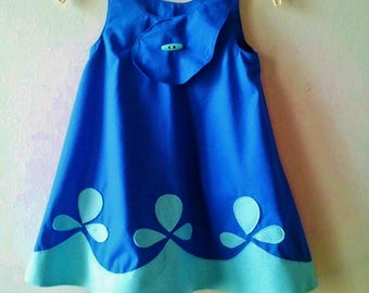 Poppy Troll Blue Halloween Costume Dress for Birthday Party Dress Up Photo Prop Princess Poppy