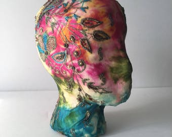 Embroidered Head For Display