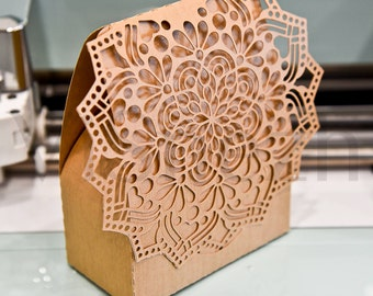 Laser cut Box Template. Wedding decoration. EPS SVG DXF cutting files, Silhouette Cameo, Cricut