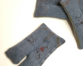 Cat nip toy, Cat nip jeans, Denim cat toy, Recycled denim, Upcycled denim, Gifts for pets, Cat stuff