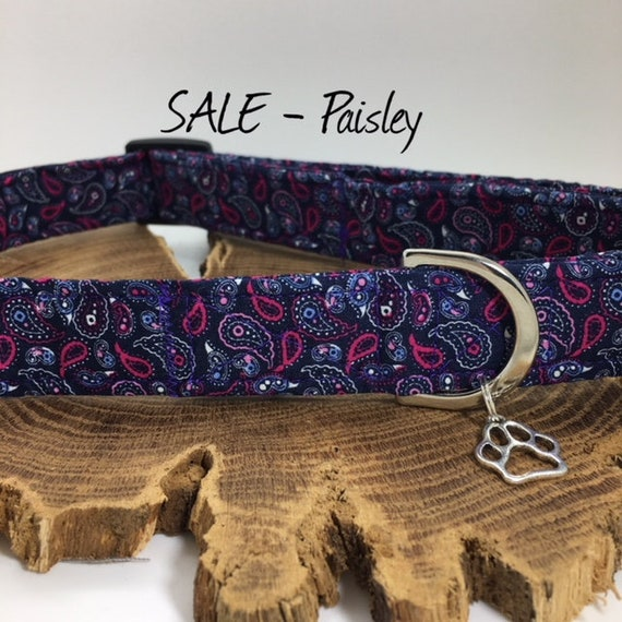 Sale Dog Collar, Paisley Dog Collar, Luxury Dog Collar