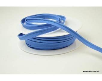 Passepoil 10 mm coton Bleu Azur