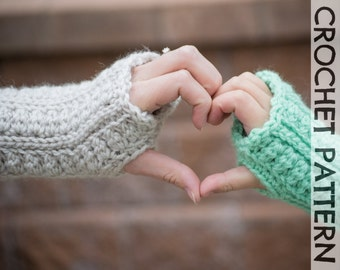 CROCHET PATTERN: Backcountry Fingerless Gloves - All sizes