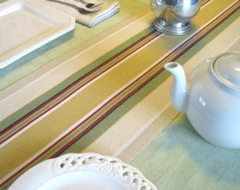 Tablerunner in muted stripes