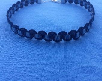 Blue Wavy Choker