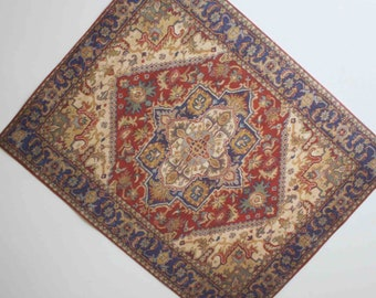 Miniature Dollhouse Rug Victorian or Edwardian Era Half Scale or 1:12 Scale or Playsacle