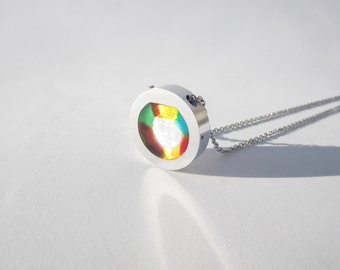 Color Wheel Necklace – Modern Necklace – Modern Contemporary Jewelry