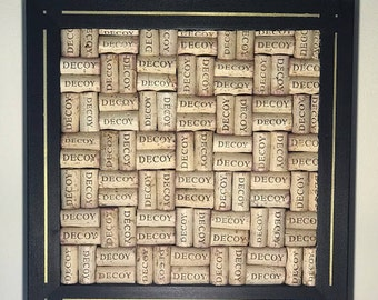 Wine Cork Board- Black Frame