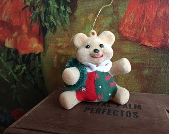 Teddy Bear Ornament Vintage Christmas Tree Holiday Decor Toy