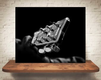Guitar Photograph - Fine Art Print - Wall Decor - Black & White Photo - Pictures Guitars - Wall Art - Music - Modern Decor - Contemporary