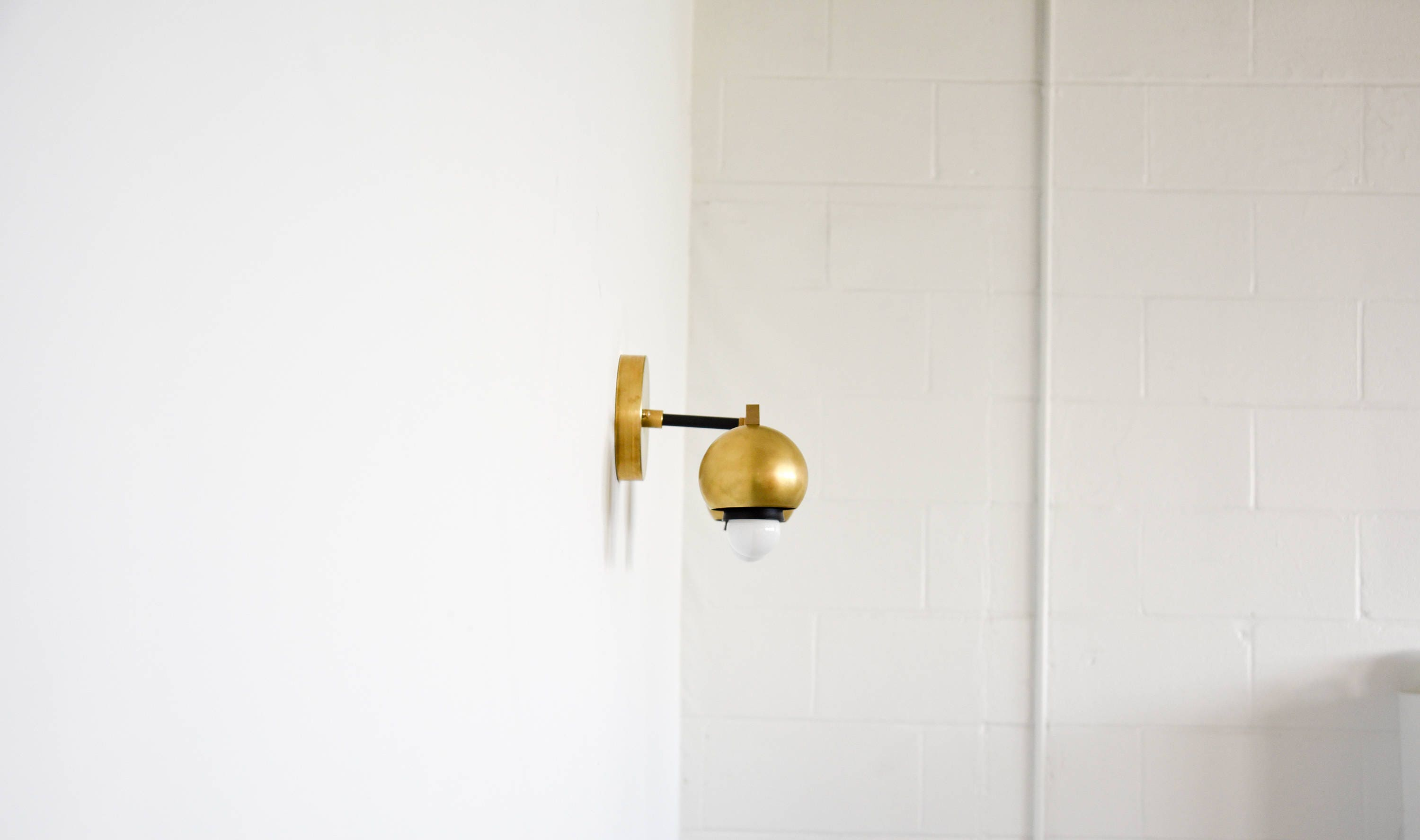 with faucet brass pin sconce sconces brittanymakes bathroom walnut white black