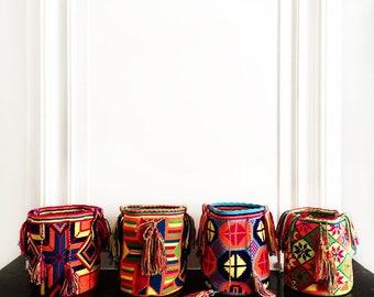 Magnificent Colombian Hand Woven Bag, Unique Multi Coloured Shoulder Bag, Interior Decor
