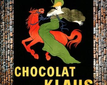 Chocolat Klaus Vintage Chocolate Drink Ad, Vintage Candy Ad, Candy Print, Bakery Art, Vintage Art , Giclee Art Print, Fine Art Reproduction
