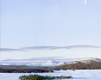Art Print - Rangeley Lake in January