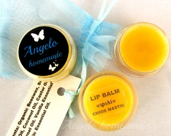 Lip Butter Chios Mastic Vanilla, Lip Balm Organic, Natural Lip Balm, Lip Moisturizer, Chapped Lips, Natural Lip Care, Chapstick Organic.