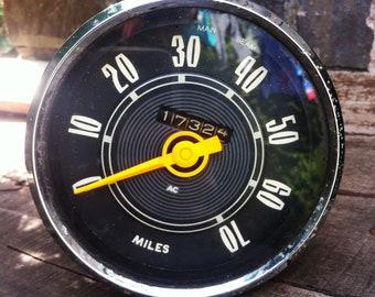 Car parts accessories vintage etsy uk mid 20th century vintage car ac speedo speedometer gauge clock publicscrutiny Image collections