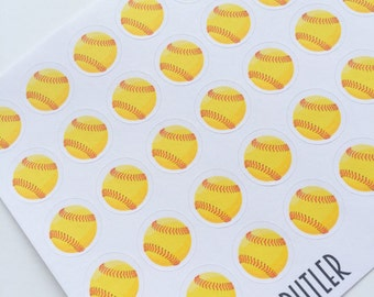 F044--Softball Planning Stickers for the Erin Condren Planner ECLP or Happy Planner. practice games tournament travel ball batting fielding