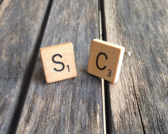 Scrabble Tile Cuff Links