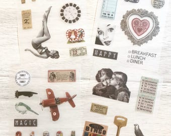 Vintage Stickers Pack- Old time