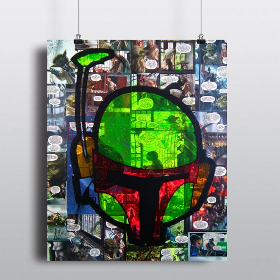 Star Wars Boba Fett SIGNED Fine Art Print