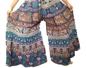 Ladies bohemian wide spread pants,