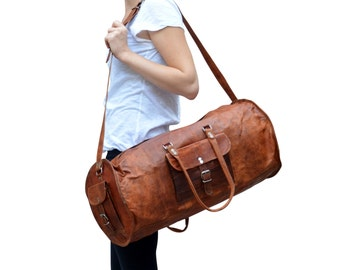 Gusti leather 'Archie' genuine leather travel luggage